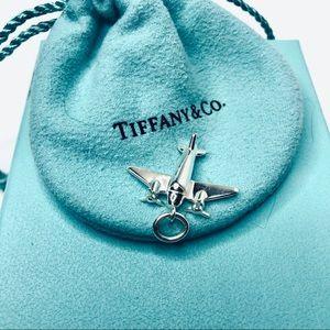 Tiffany & Co. Silver Airplane Charm Pendant